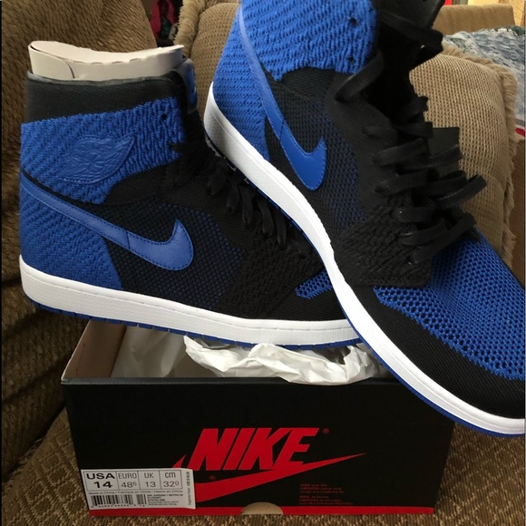 7bfb04218e Nike Shoes | Air Jordan 1 Retro Hi Flyknit 919704 006 Us14 | Poshmark